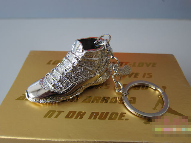Titanium Air Jordan 11 Sneaker Necklace And Key Chains