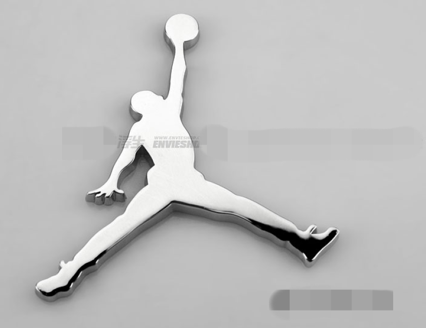 Air jordan jumpman car metal decal emblem badge